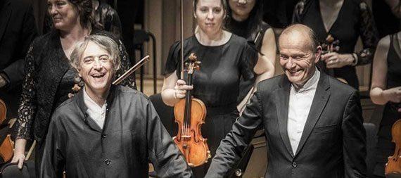 Manchester Camerata's Gabor Takacs-Nagy and Jean-Efflam Bavouzet at The Stoller Hall, Chetham's