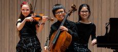 Junior piano trio at Chetham's