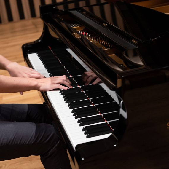 A student plays the piano at Chetham's School of Music