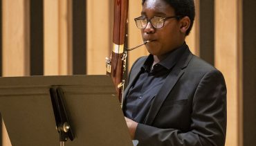 Bassoon student at Chetham's