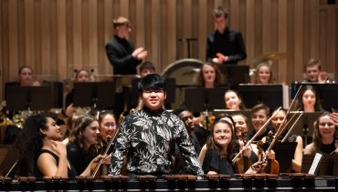 Chetham's student Fang performs in The Stoller Hall with Chetham's Symphony Orchestra